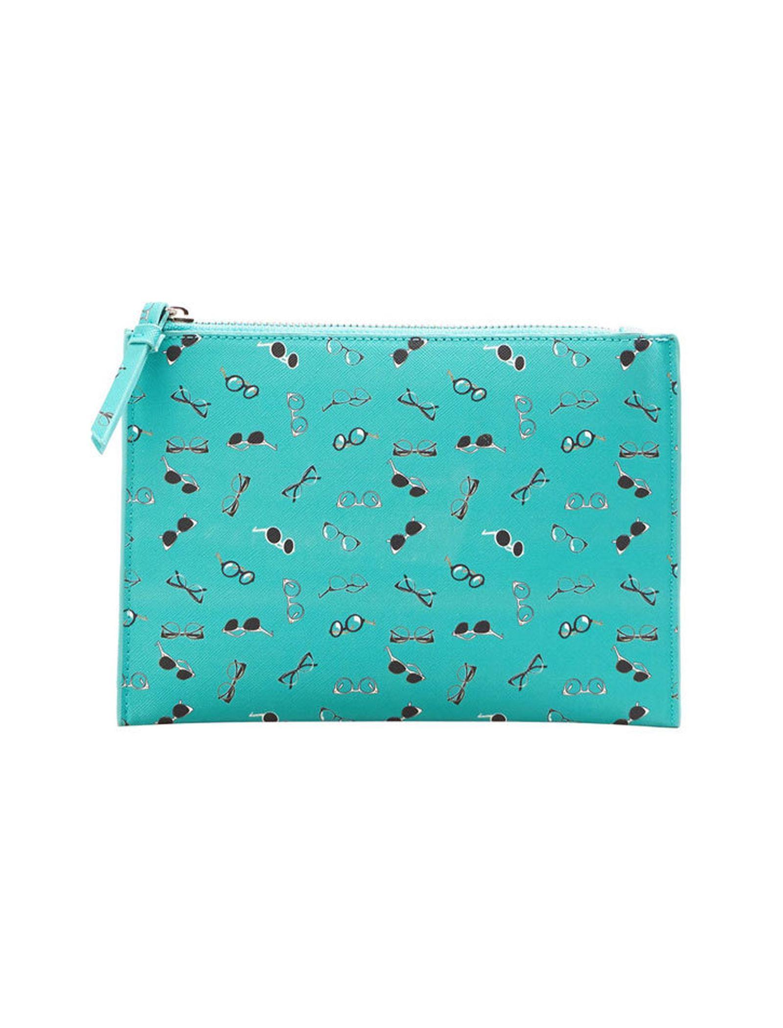 کیف لوازم آرایش زنانه - مانگو - سبز آبي - 1