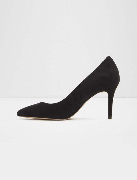 کفش پاشنه بلند نبوک زنانه - مشکي  - 2