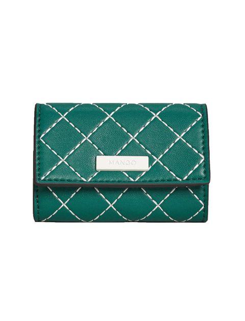کیف پول دکمه دار زنانه - سبز  - 1