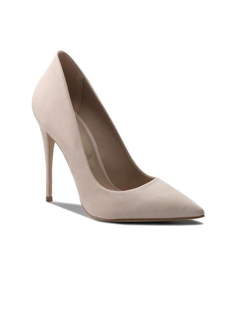 کفش پاشنه بلند چرم زنانه - صورتي روشن - 1