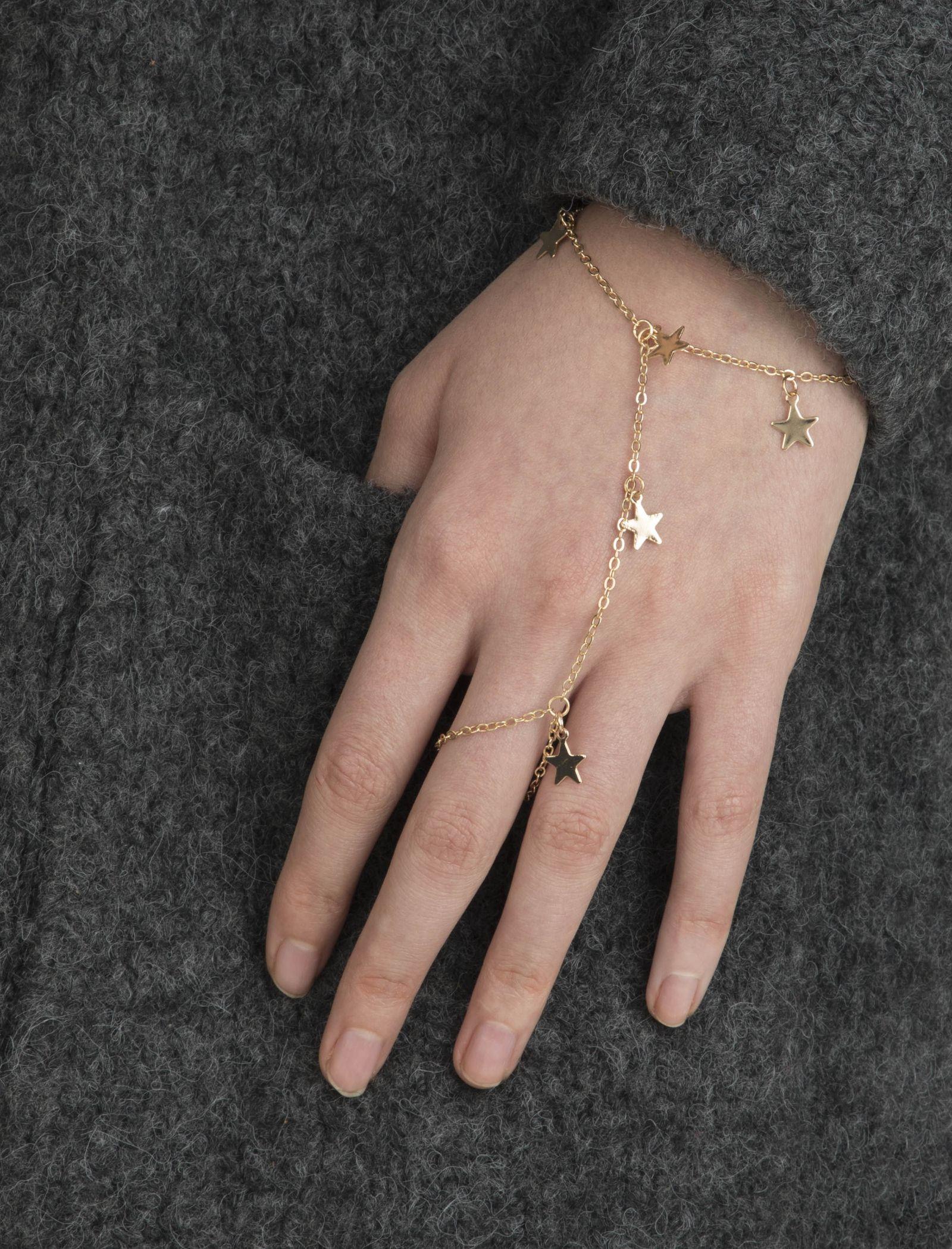 دستبند استیل زنانه - کوتون - طلايي - 4
