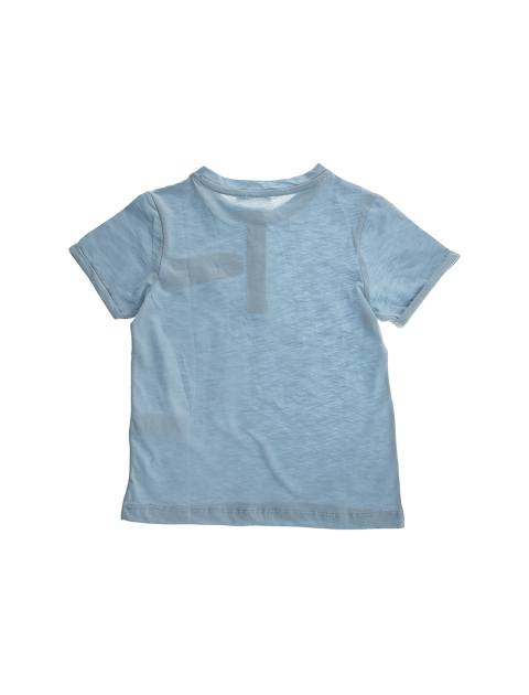 تی شرت نخی یقه گرد پسرانه - کوتون - آبي - 2