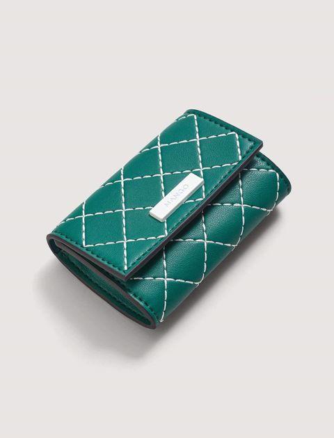کیف پول دکمه دار زنانه - سبز  - 2
