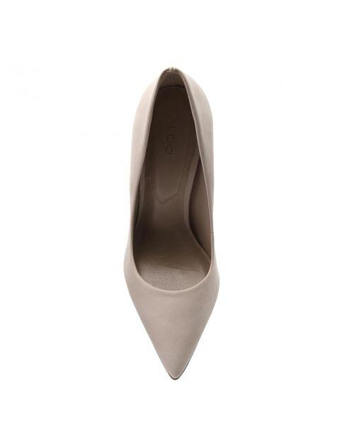کفش پاشنه بلند چرم زنانه - صورتي روشن - 3