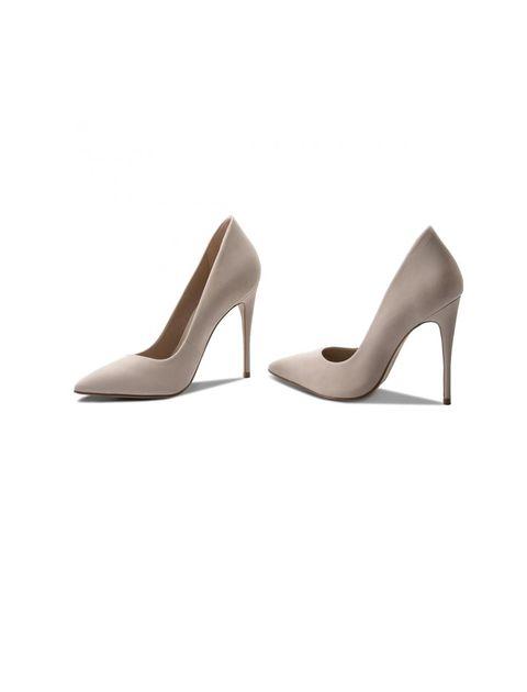 کفش پاشنه بلند چرم زنانه - صورتي روشن - 4