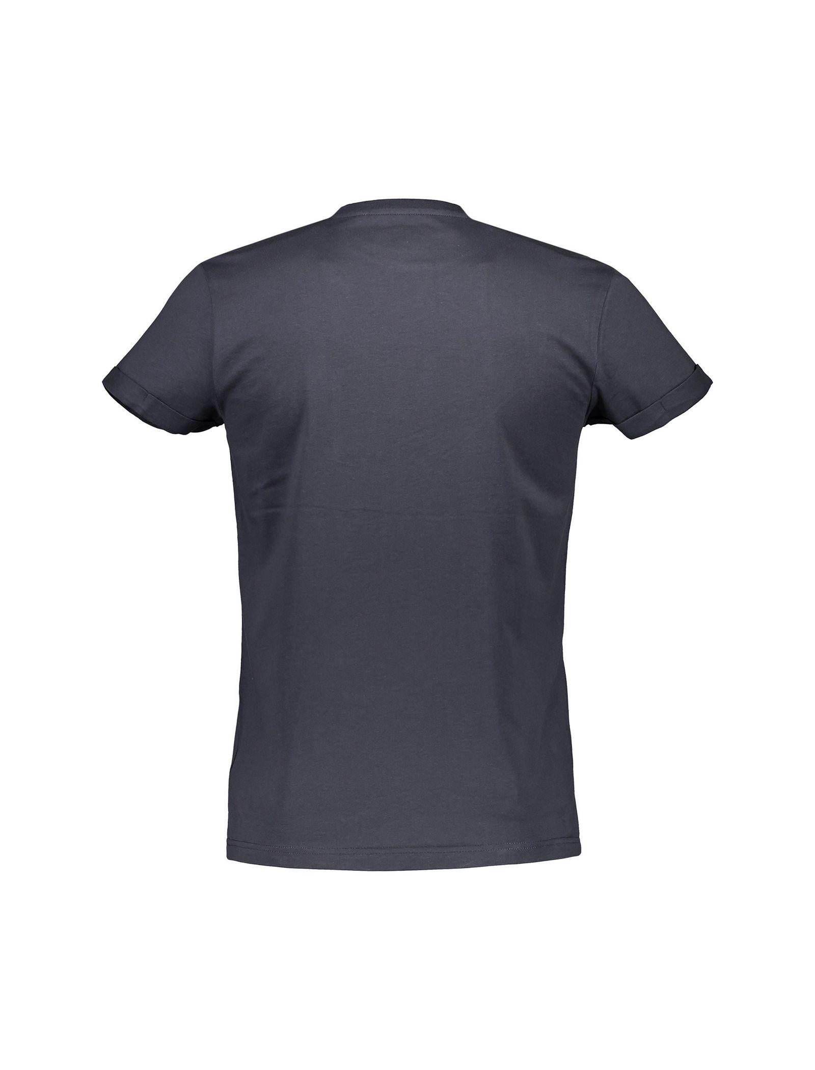تی شرت نخی یقه گرد مردانه - رد هرینگ - طوسي - 2
