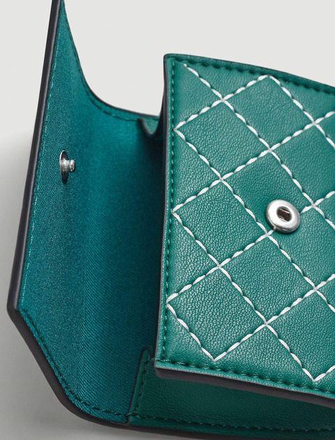 کیف پول دکمه دار زنانه - سبز  - 3