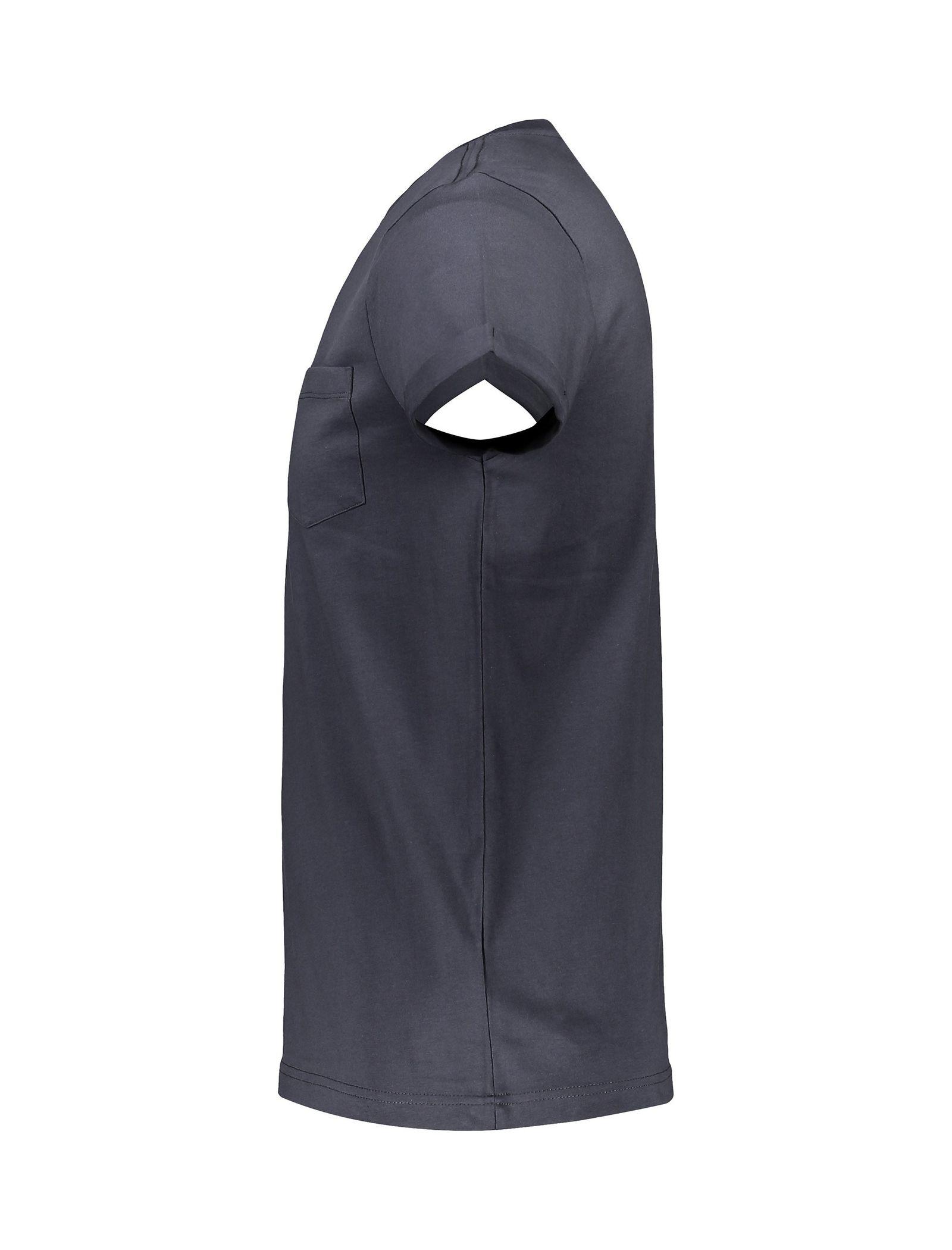 تی شرت نخی یقه گرد مردانه - رد هرینگ - طوسي - 3