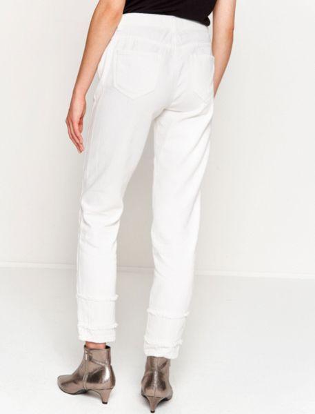 شلوار جین راسته زنانه - سفيد   - 2