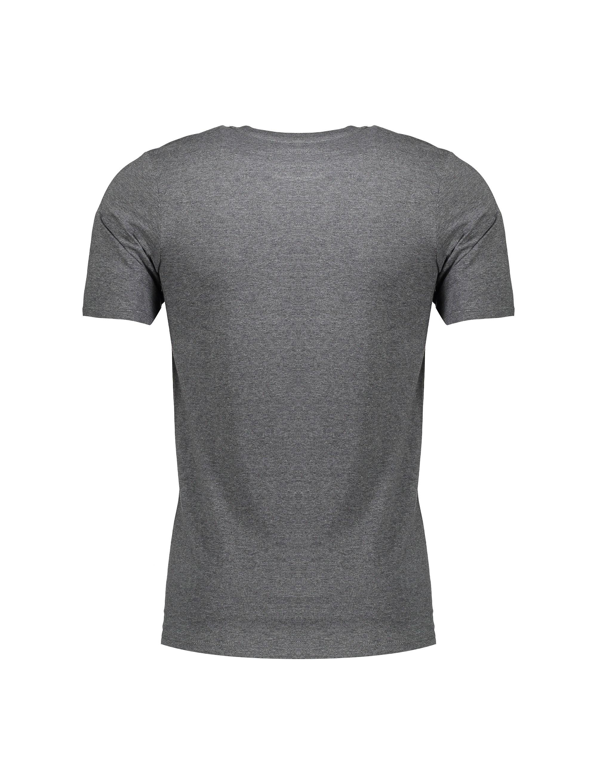 تی شرت نخی یقه گرد مردانه Pressn - نایکی - زغالي - 2