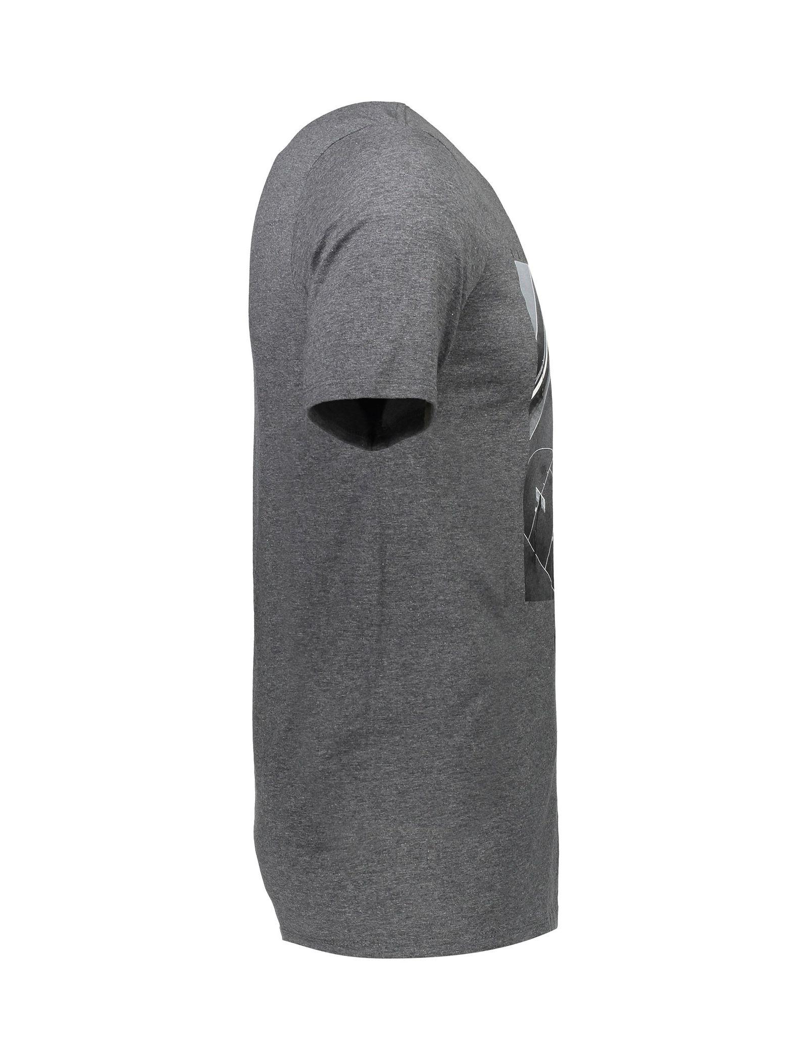 تی شرت نخی یقه گرد مردانه Pressn - نایکی - زغالي - 3