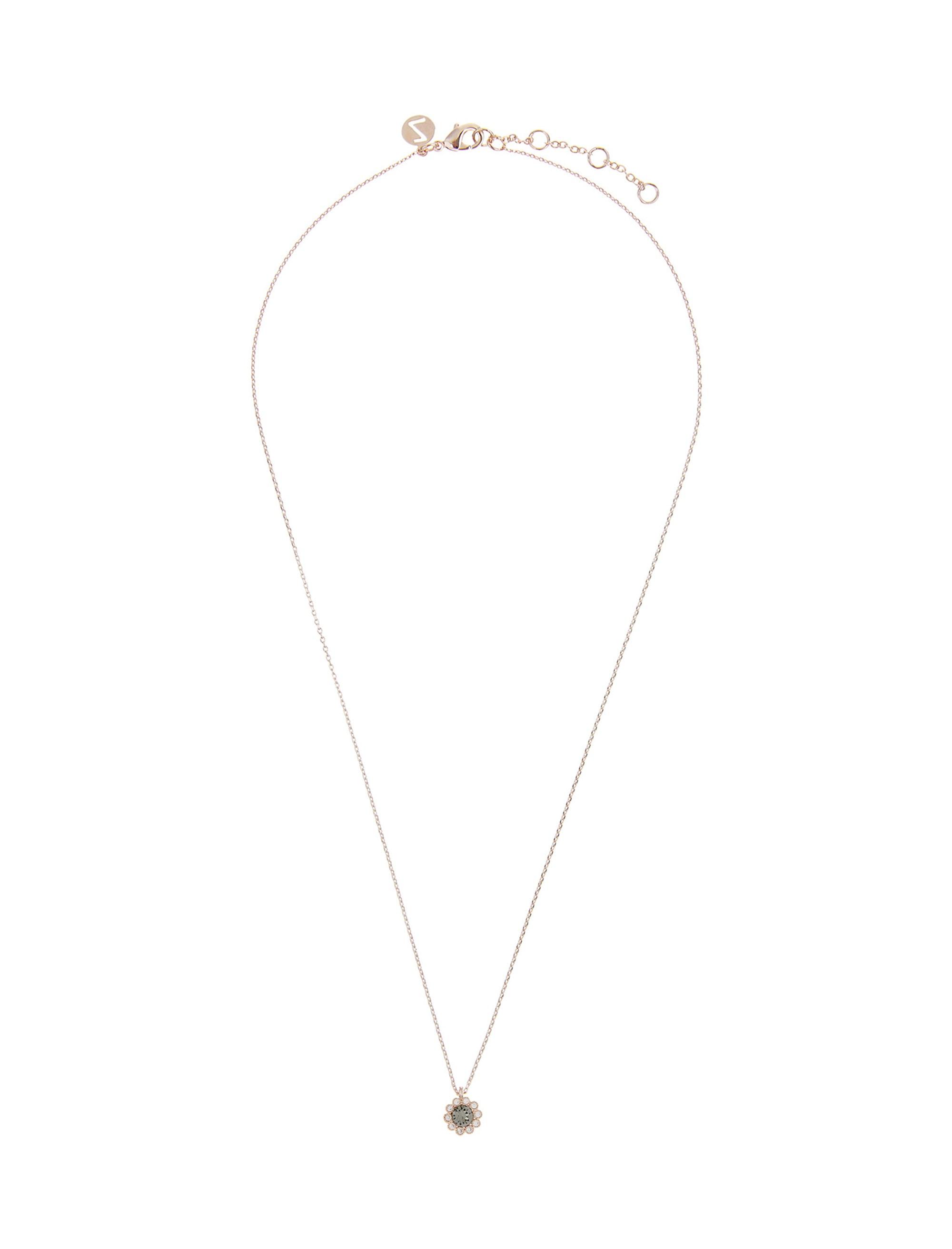 گردنبند برنجی آویز زنانه Flower - اکسسوریز