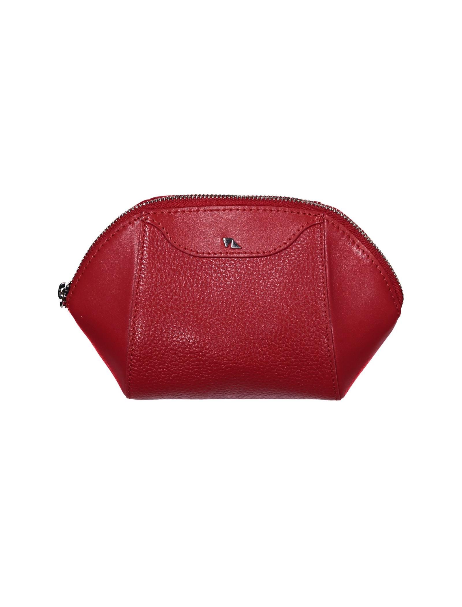 کیف لوازم آرایش چرم زنانه - چرم مشهد - قرمز - 1
