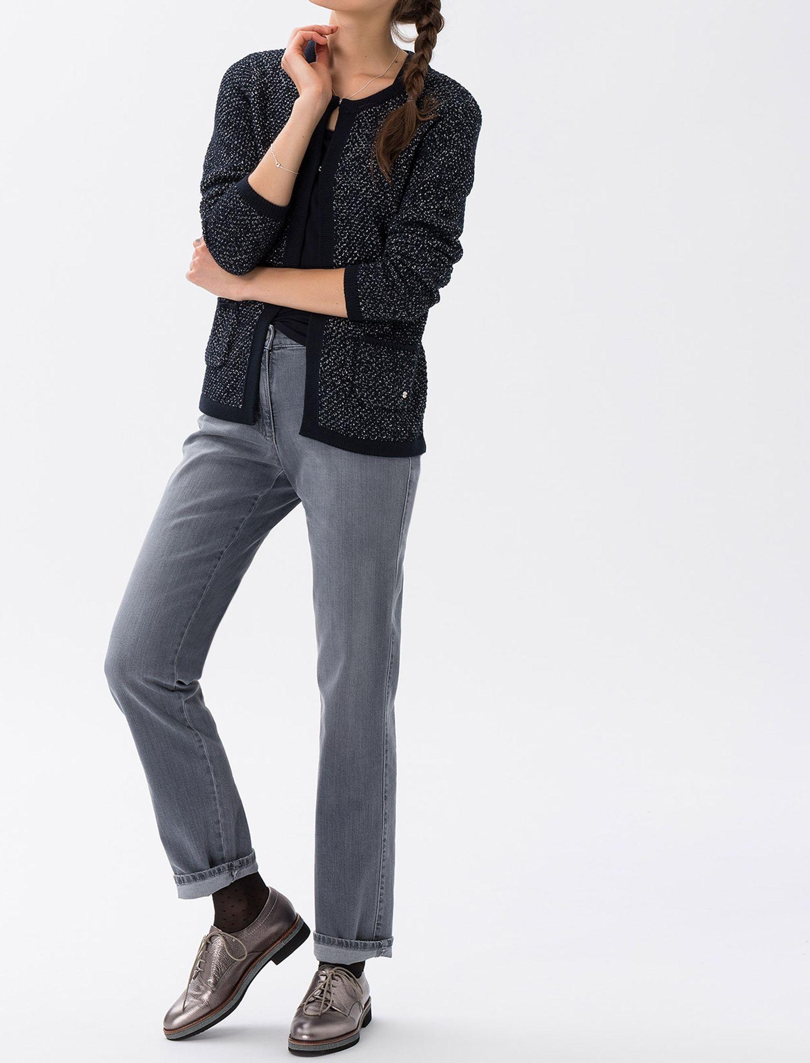 شلوار جین راسته زنانه BX-MARY - برکس - طوسي - 5