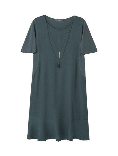 پیراهن ویسکوز کوتاه زنانه
