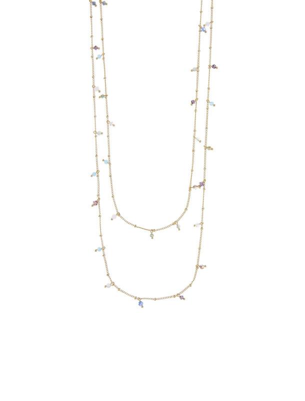 گردنبند برنجی زنجیری زنانه Jessica Beaded Rope - اکسسوریز تک سایز