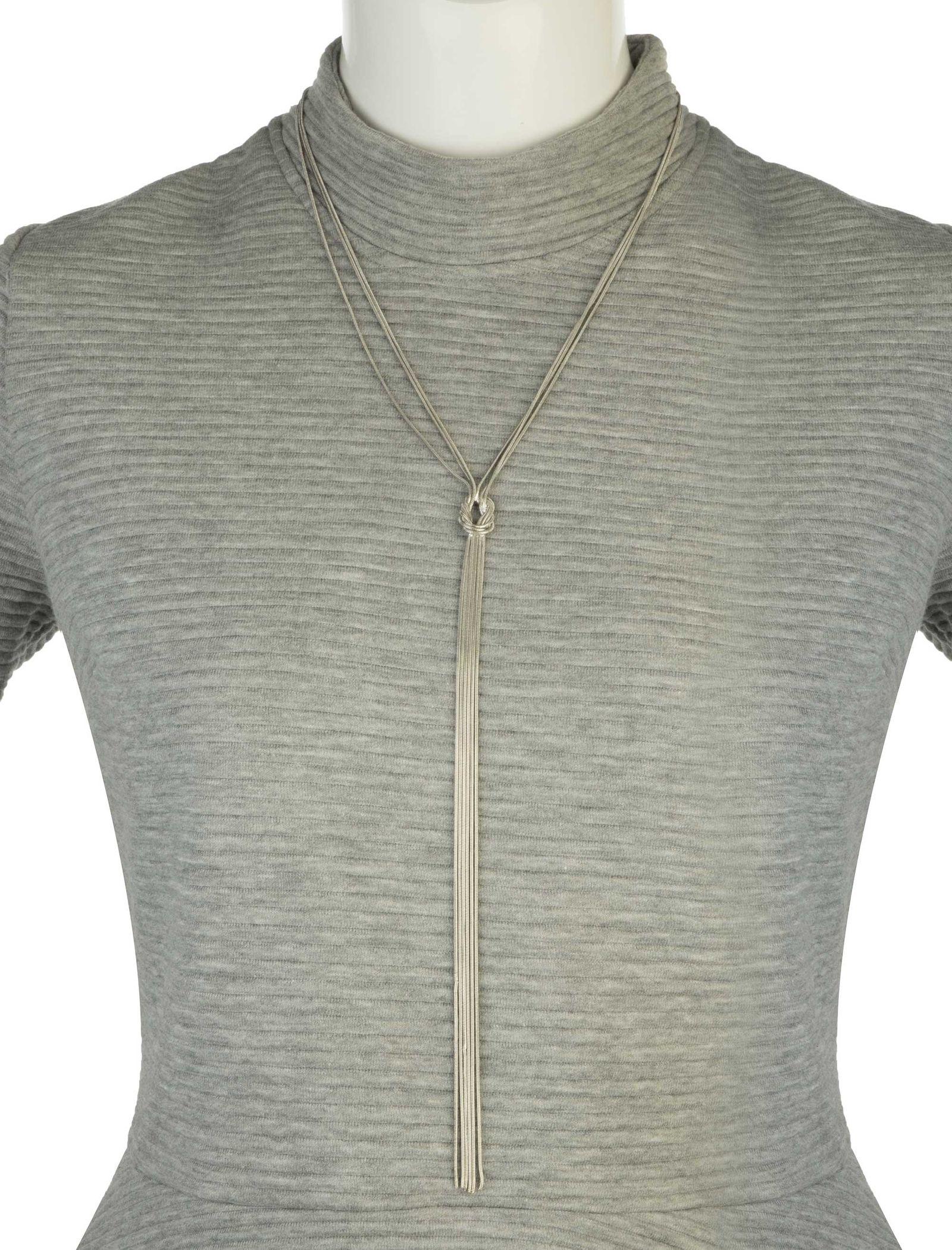 گردنبند آویز زنانه - کوتون - نقره اي - 5
