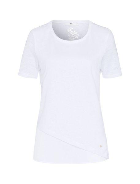تی شرت یقه گرد زنانه CORA - سفيد - 1