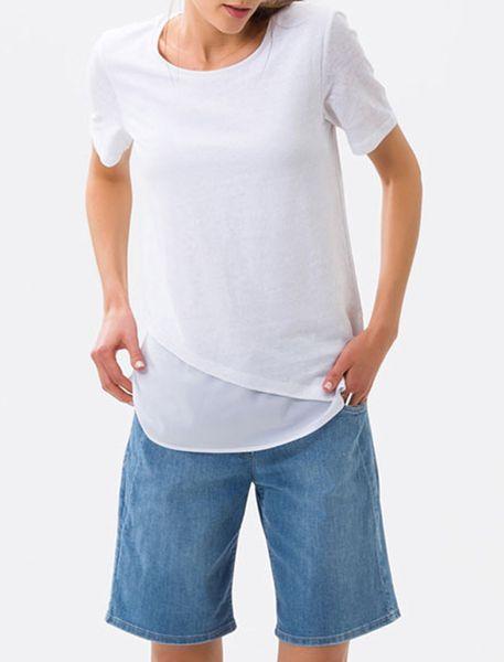 تی شرت یقه گرد زنانه CORA - سفيد - 2