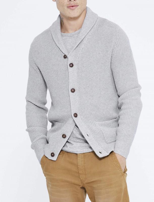 ژاکت نخی دکمه دار مردانه