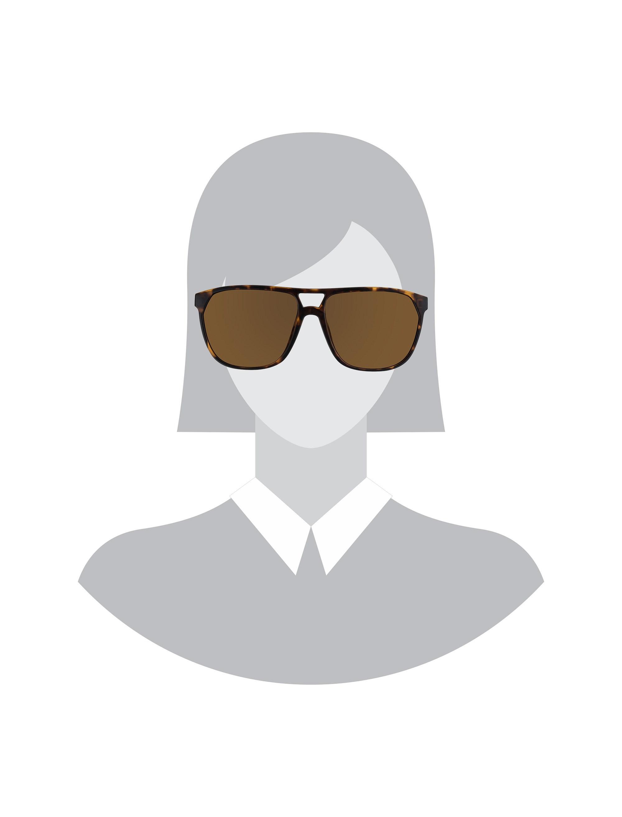 عینک آفتابی خلبانی مردانه - قهوه اي        - 4