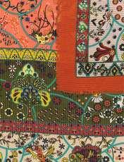 روسری طرح دار زنانه - میس اسمارت - نارنجي - 2