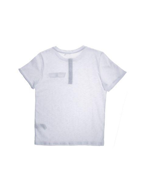 تی شرت نخی یقه گرد پسرانه - سفيد - 2