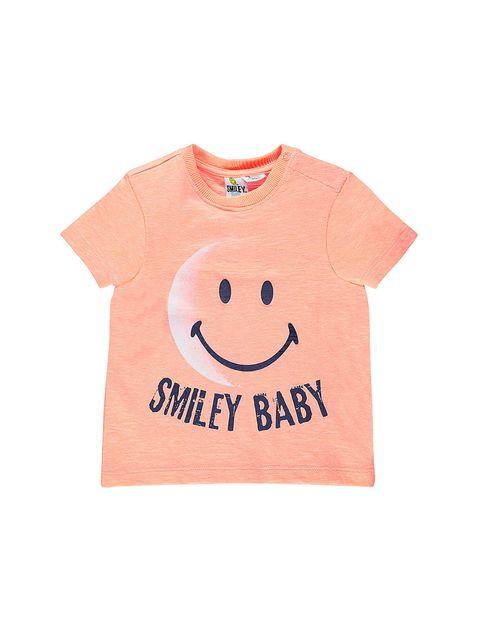 تی شرت نخی طرح دار نوزادی پسرانه - نارنجي - 1