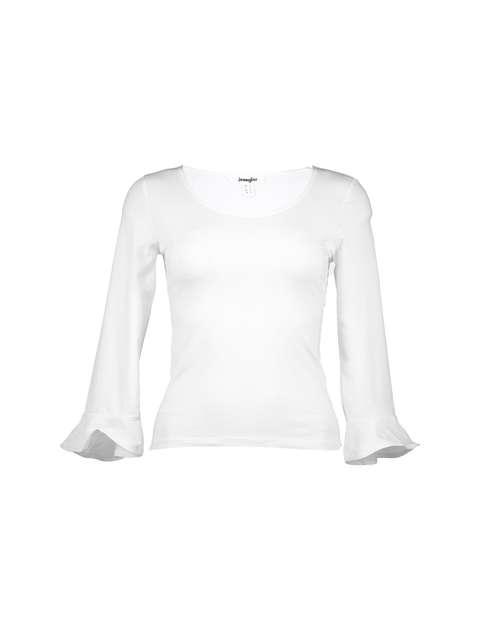 تی شرت نخی یقه گرد زنانه - جنیفر