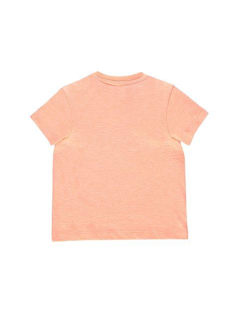 تی شرت نخی طرح دار نوزادی پسرانه - نارنجي - 2