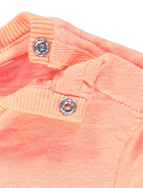تی شرت نخی طرح دار نوزادی پسرانه - نارنجي - 3