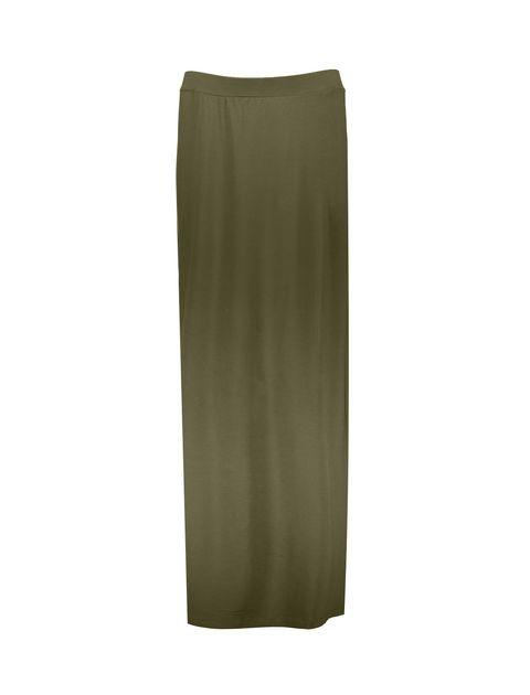 دامن ویسکوز بلند  زنانه - زيتوني - 1