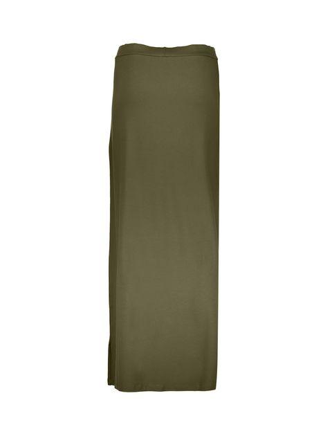 دامن ویسکوز بلند  زنانه - جنیفر - زيتوني - 2