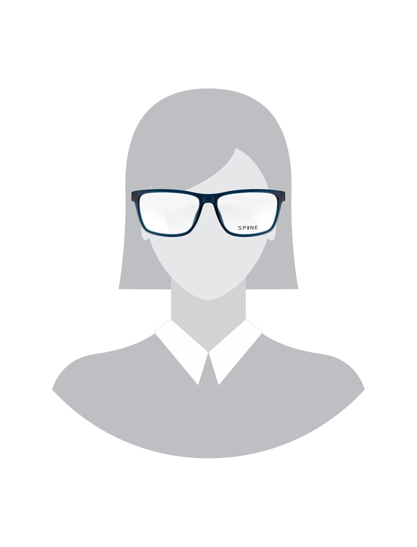 عینک طبی ویفرر زنانه - اسپاین - سرمه اي - 5