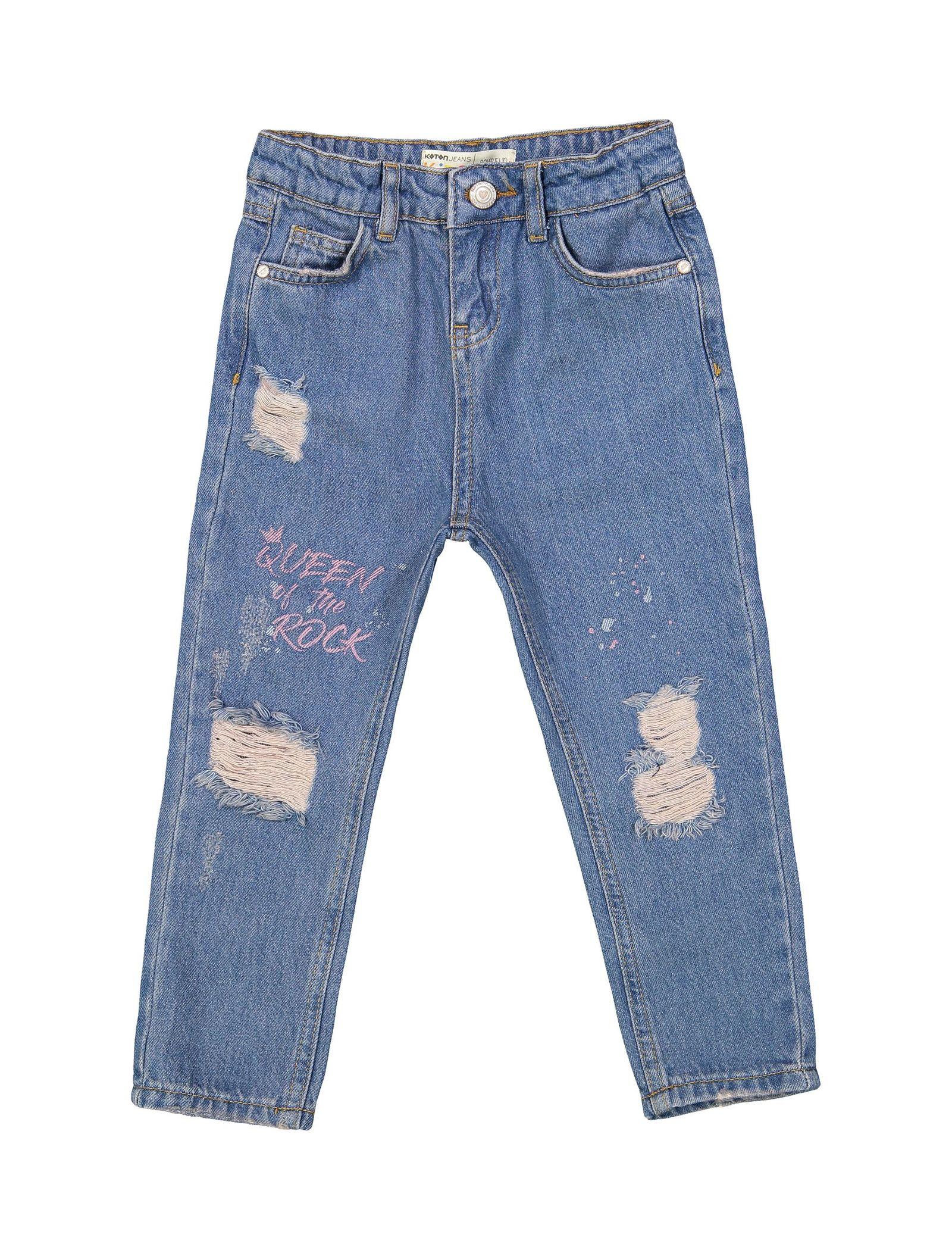 شلوار جین راسته دخترانه - کوتون - آبي - 1
