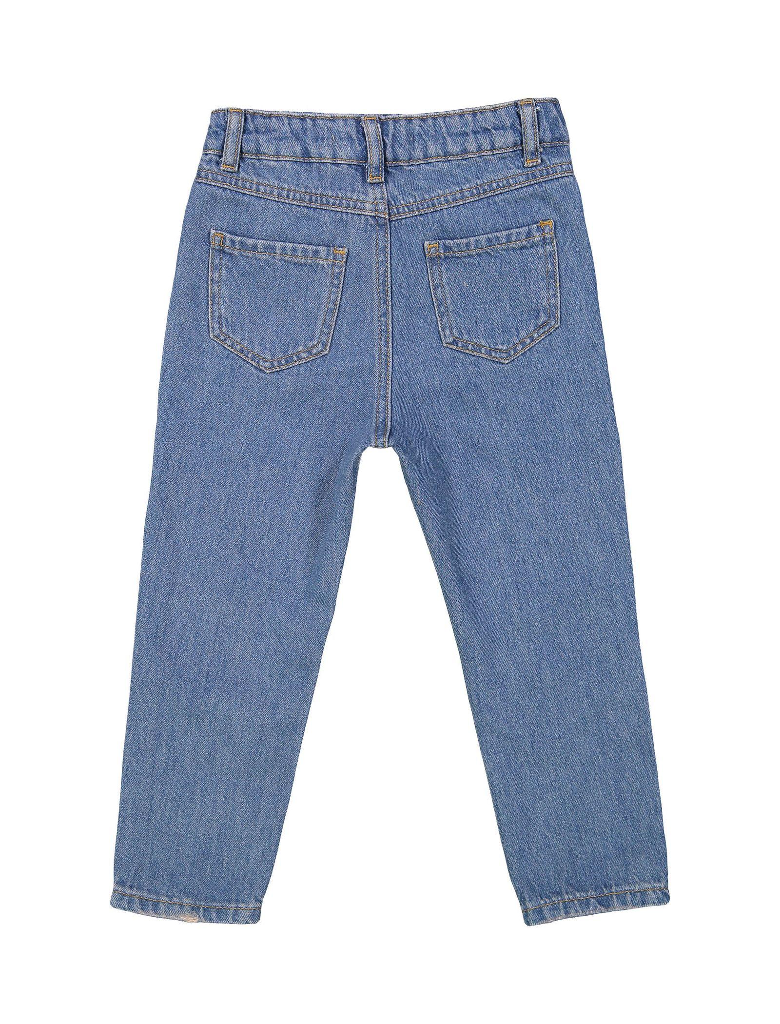 شلوار جین راسته دخترانه - کوتون - آبي - 2