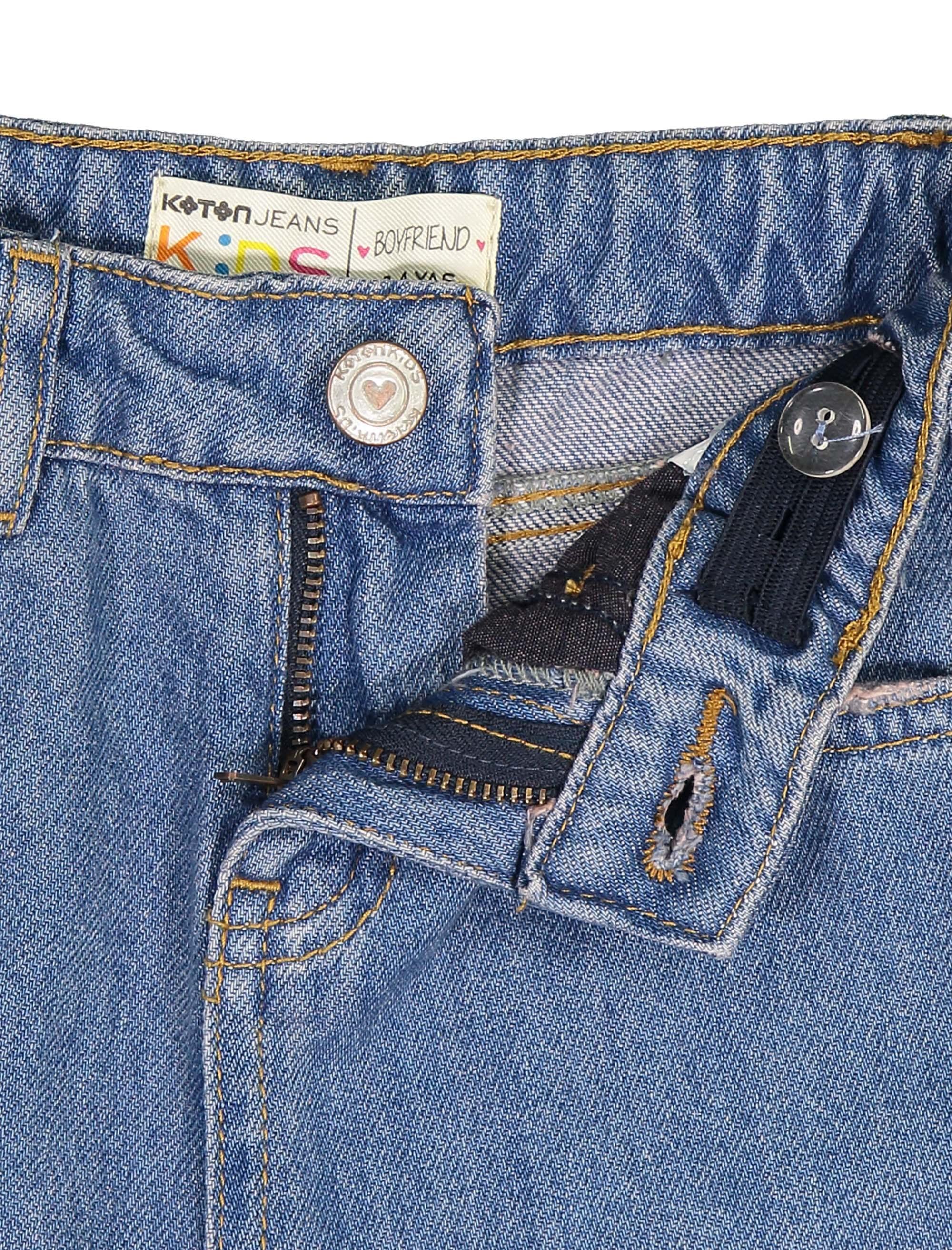 شلوار جین راسته دخترانه - کوتون - آبي - 3