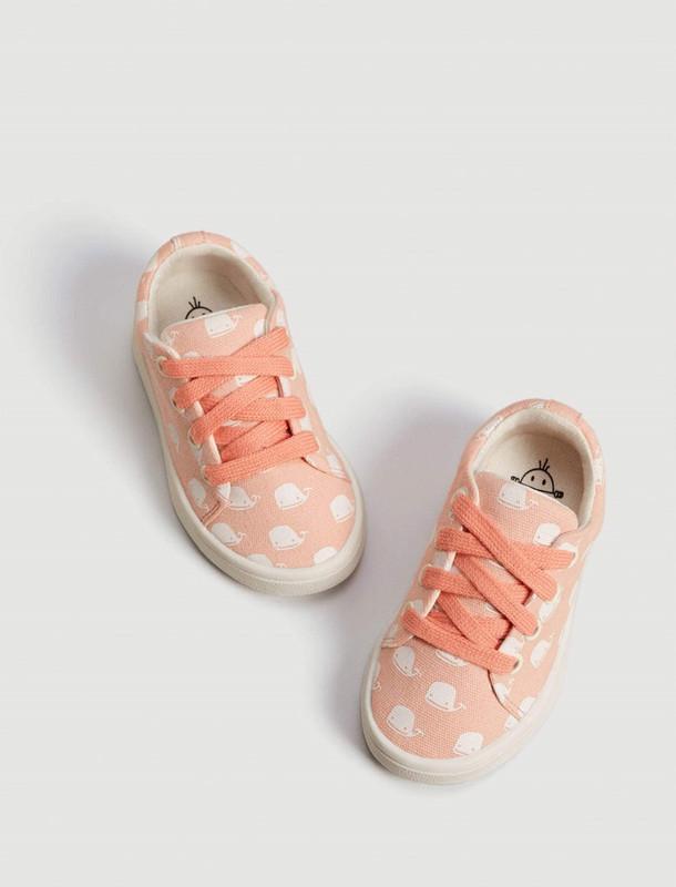 کفش پارچه ای بندی نوزادی - مانگو