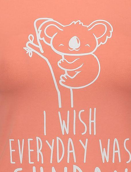 تی شرت نخی یقه گرد زنانه - نارنجي - 4