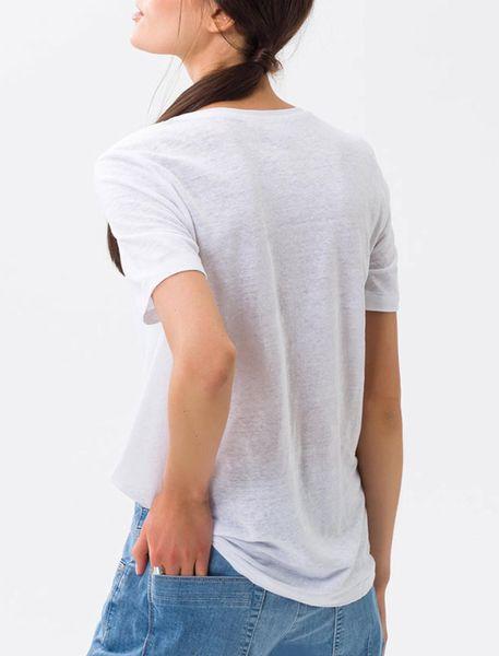 تی شرت یقه گرد زنانه CORA - سفيد - 3