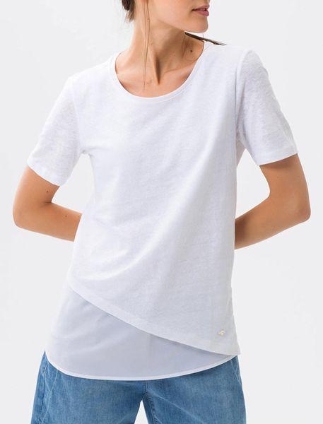 تی شرت یقه گرد زنانه CORA - سفيد - 4