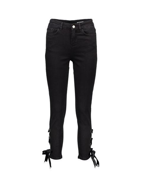 شلوار جین راسته زنانه - مشکي - 1