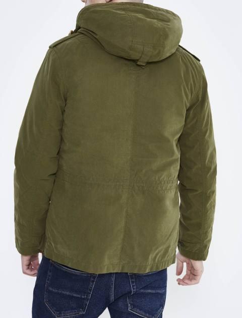 کاپشن کوتاه مردانه - سبز - 3