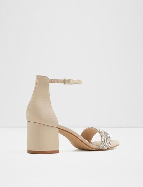 کفش پاشنه بلند زنانه - کرم - 2