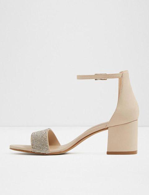 کفش پاشنه بلند زنانه - کرم - 3