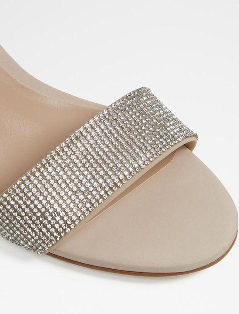 کفش پاشنه بلند زنانه - کرم - 4