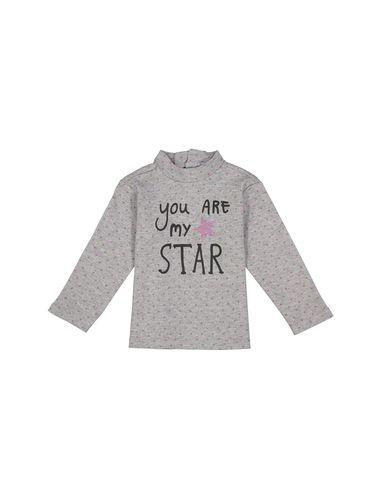 تی شرت نخی طرح دار نوزادی دخترانه - ایدکس