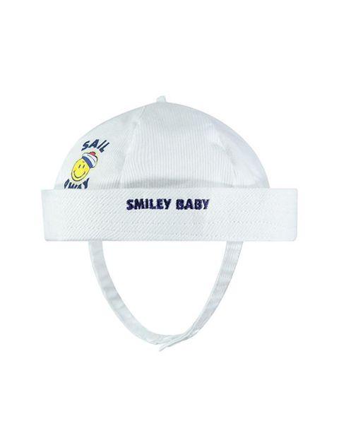 کلاه نخی نوزادی پسرانه - سفيد - 1