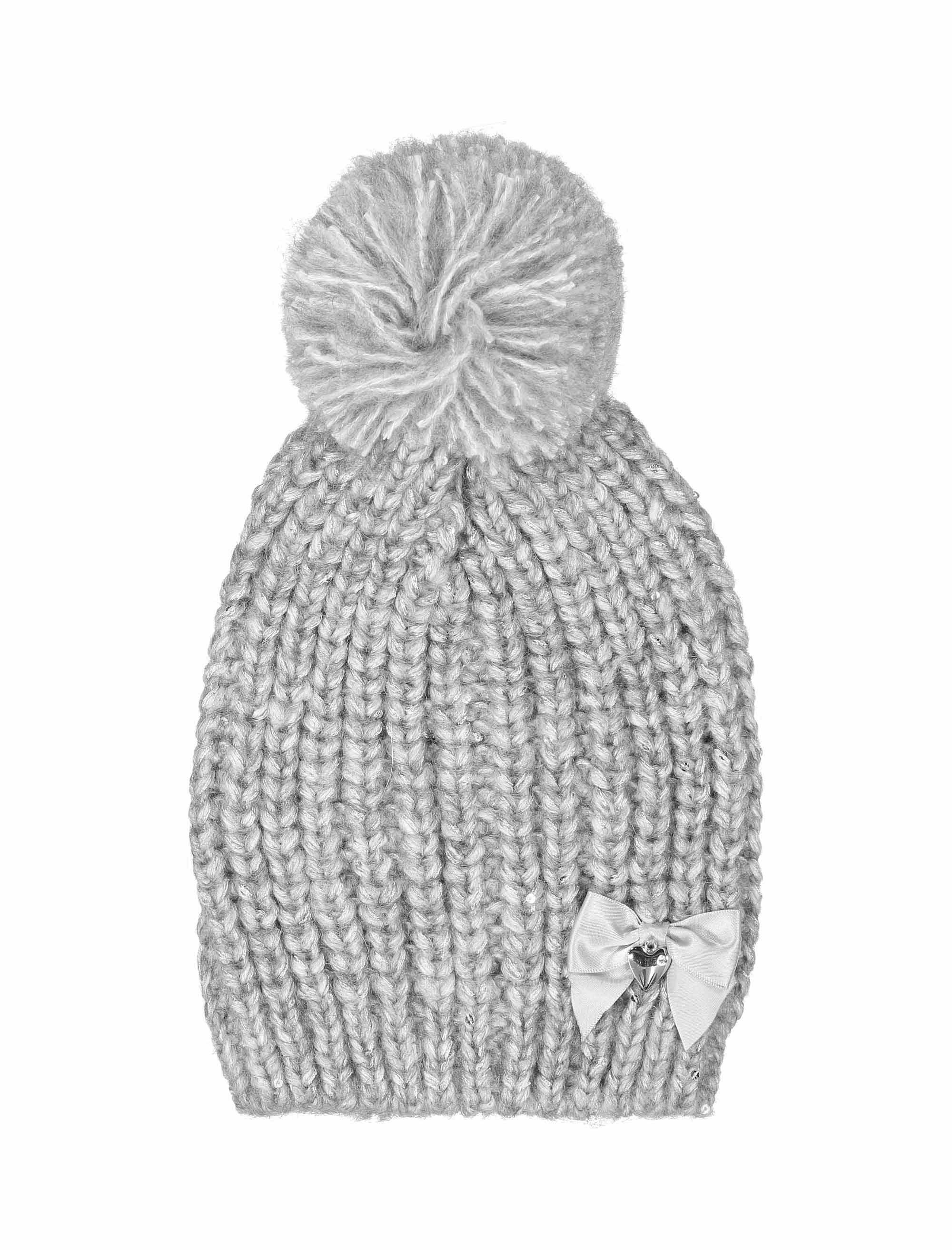 کلاه بافتنی نوزادی دخترانه - ایدکس - طوسي - 1