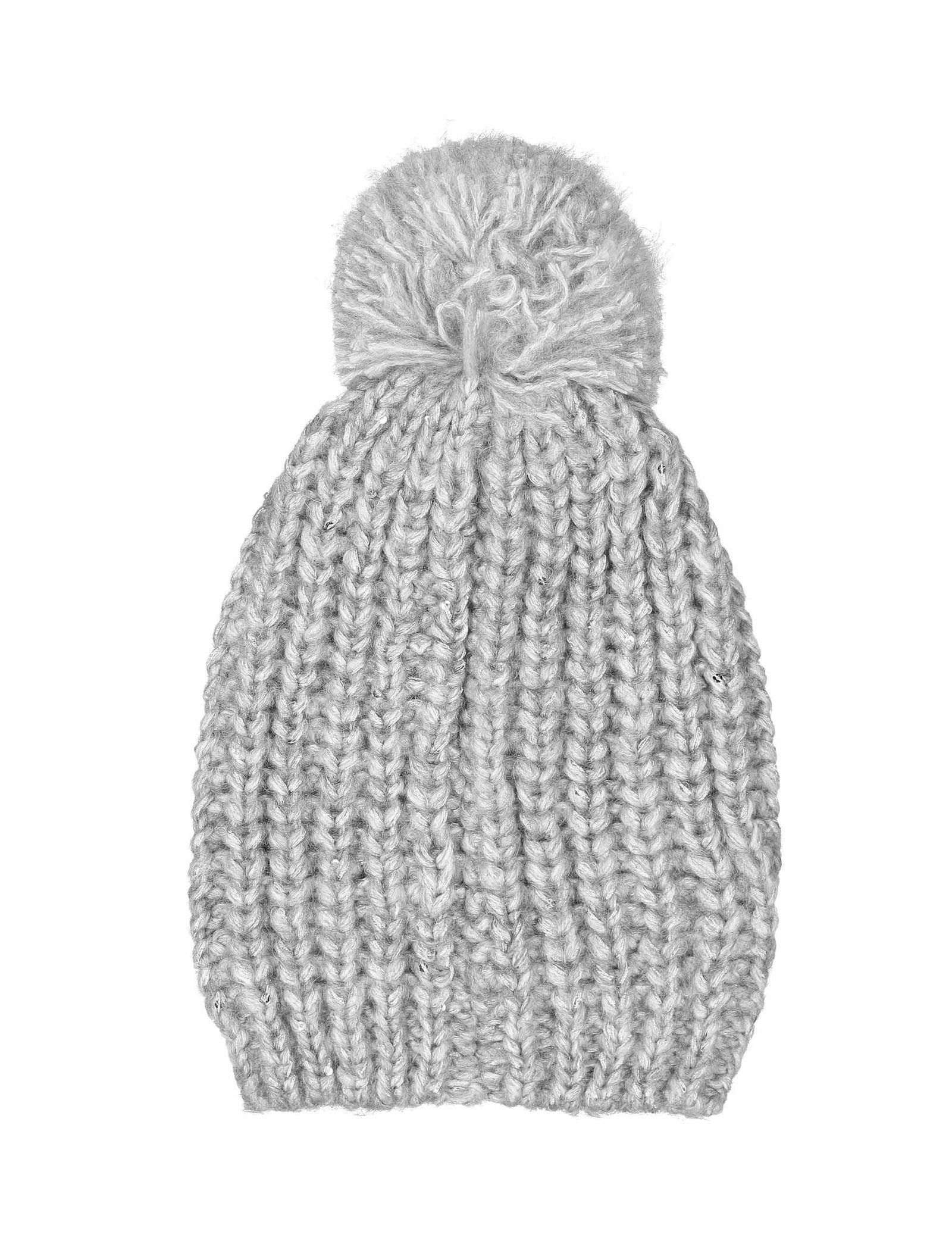 کلاه بافتنی نوزادی دخترانه - ایدکس - طوسي - 2